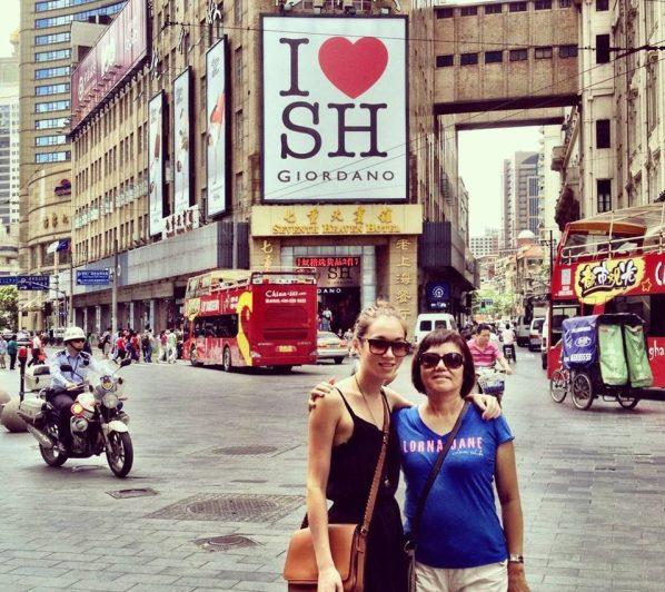 Shanghai with mum