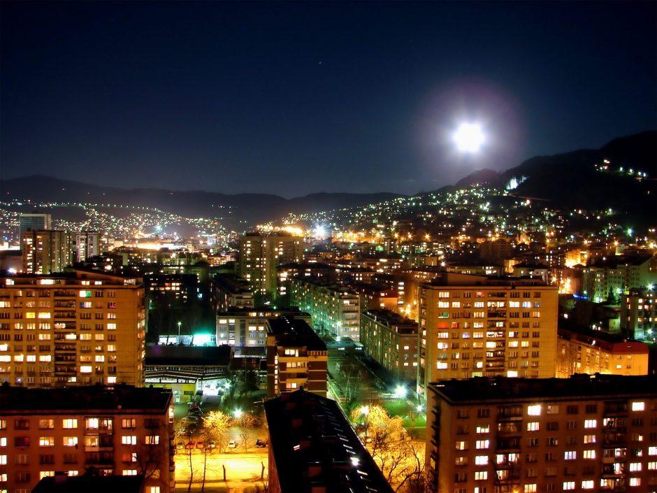 Bosnia at night