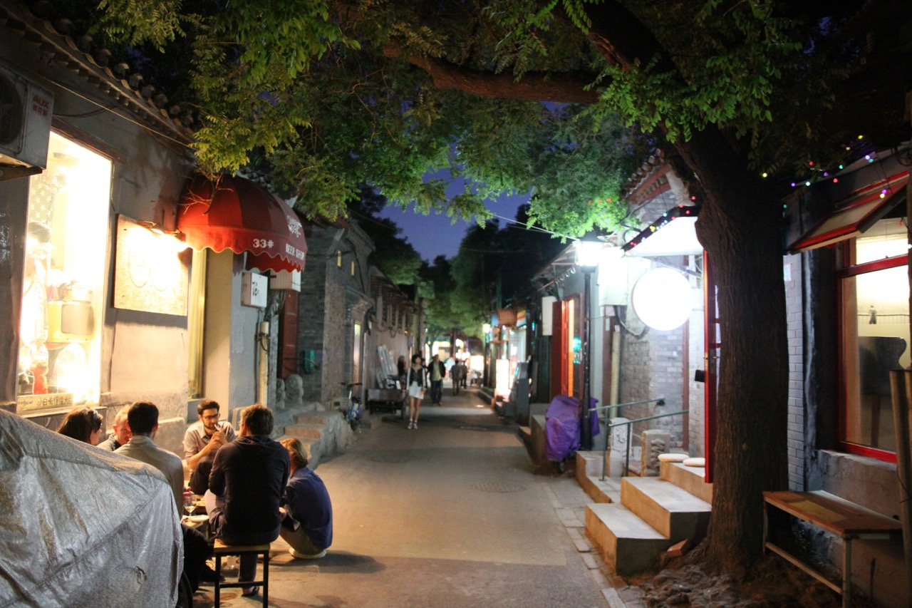 Beijing Hutong at night