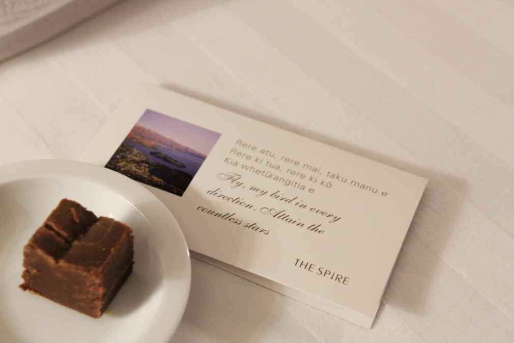 The Spire Hotel Queenstown Bedroom Review Travel Blog Tips Chocolate Fudge on Pillow