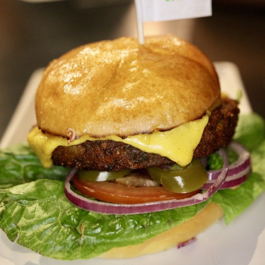 My veggie burger from Burger Urge
