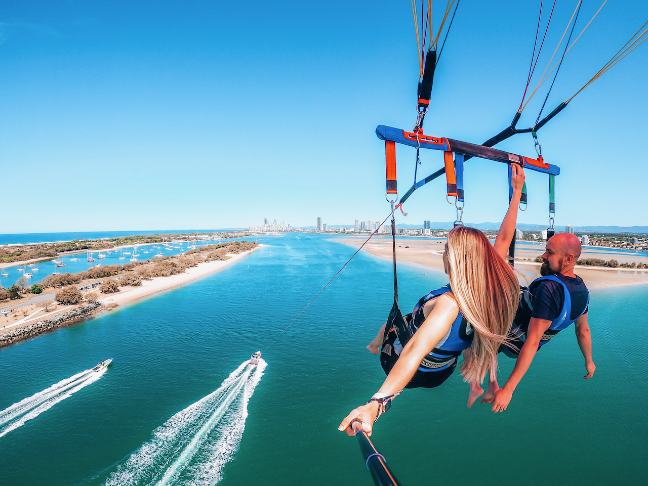 Parasailing on the Gold Coast ©Little Grey Box
