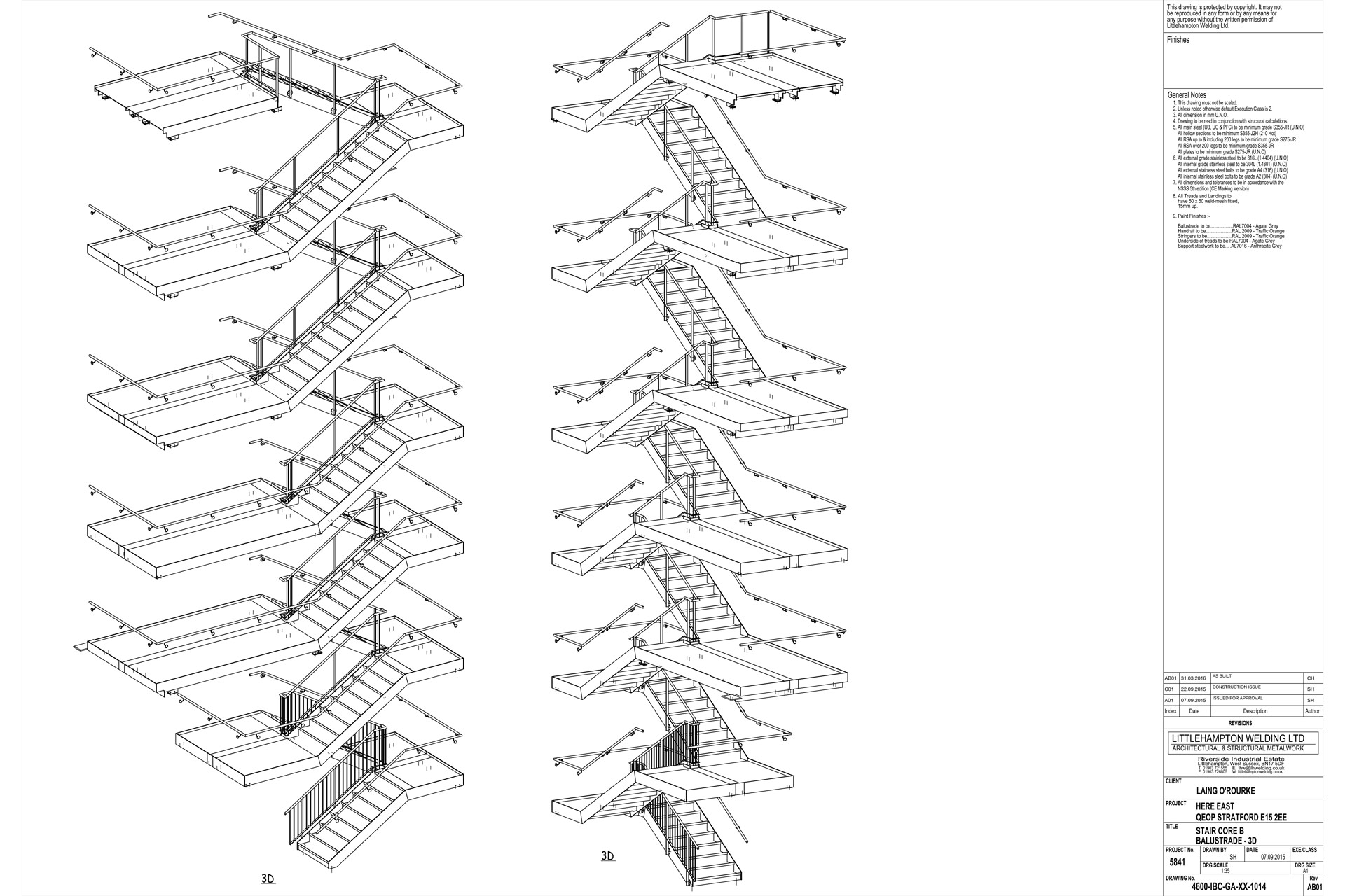 hight resolution of staircase drawing