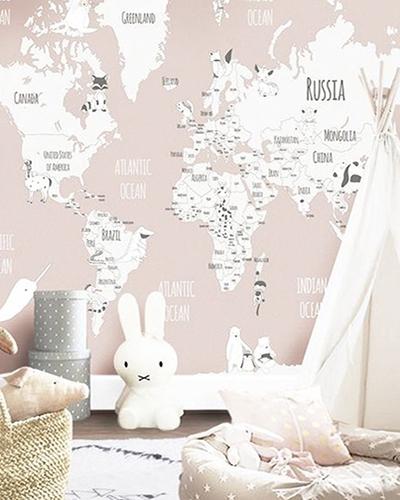 LH – Animals World Map II Room