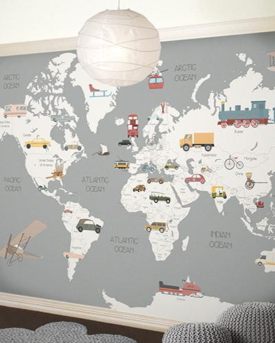 LH – Transports World Map Room