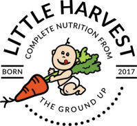 Little Harvest healthy baby food brand seal logo