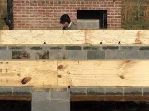 Ben nailing the rim board