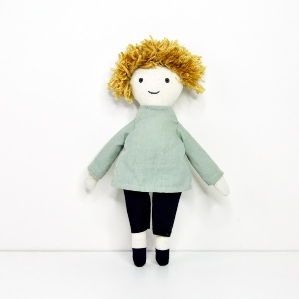 Worry doll - boy - front view