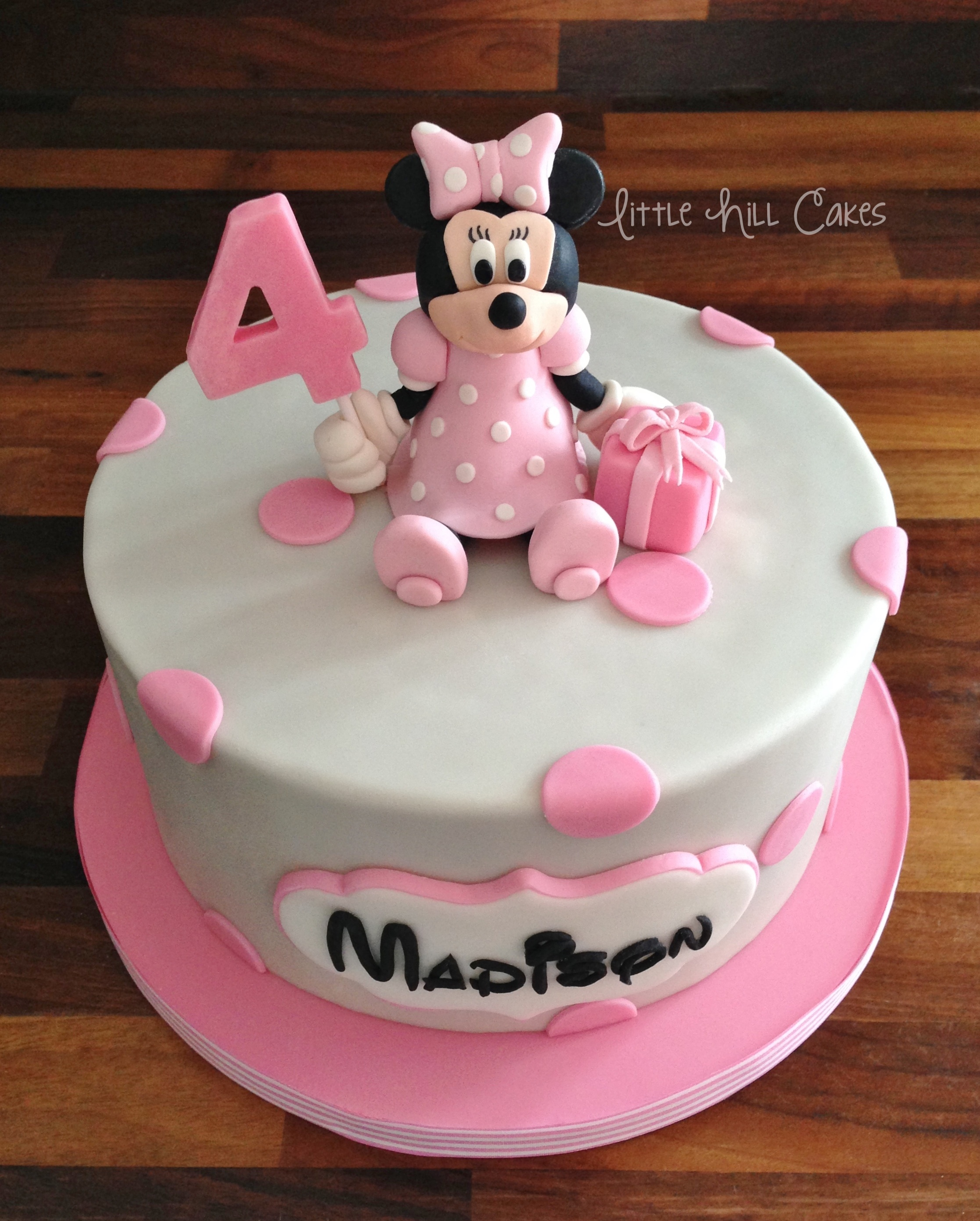 Minnie Mouse Birthday Cake Little Hill Cakes