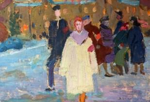 """Белан В.А. Эскиз к картине """"Дружина"""", 1960 год. Из коллекции """"Маленьких историй""""."""