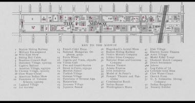 Карта парка развлечений, среди других павильонов есть и лапландская деревня.