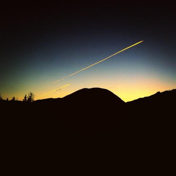 Airplanes Like Shooting Stars Night Sky