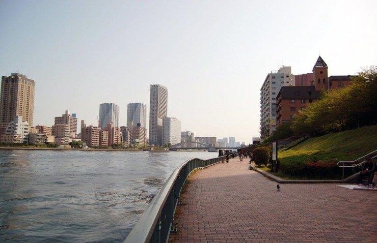 Relaxing city views of Tokyo