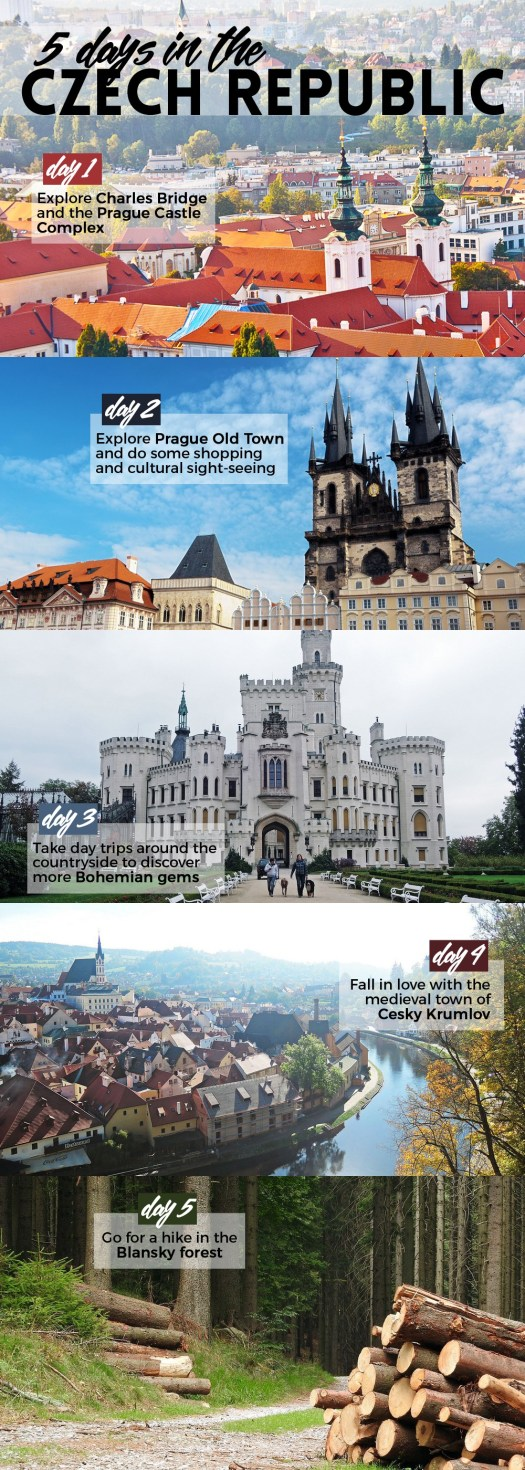 Here's what to do on your first visit to the Czech Republic: immerse in the fairytale cities of Prague and Cesky Krumlov, drive or hike around the countryside, and drink up the magic, atmosphere, and the world's greatest beer.