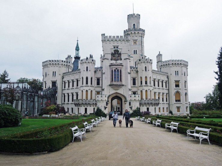 Hluboka castle in South Bohemia, Czech Republic