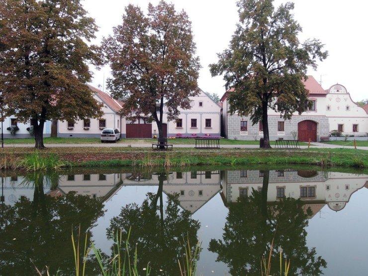 Day trip from Cesky Krumlov - Holasovice village in South Bohemia, Czech Republic
