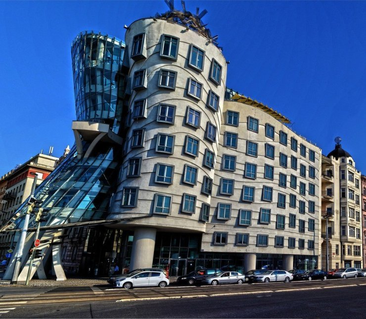 The Dancing House's architectural style known as deconstructivity certainly stands out among the Baroque, Gothic, and Art Noveau buildings that defines Prague's distinctive architectural landscape.