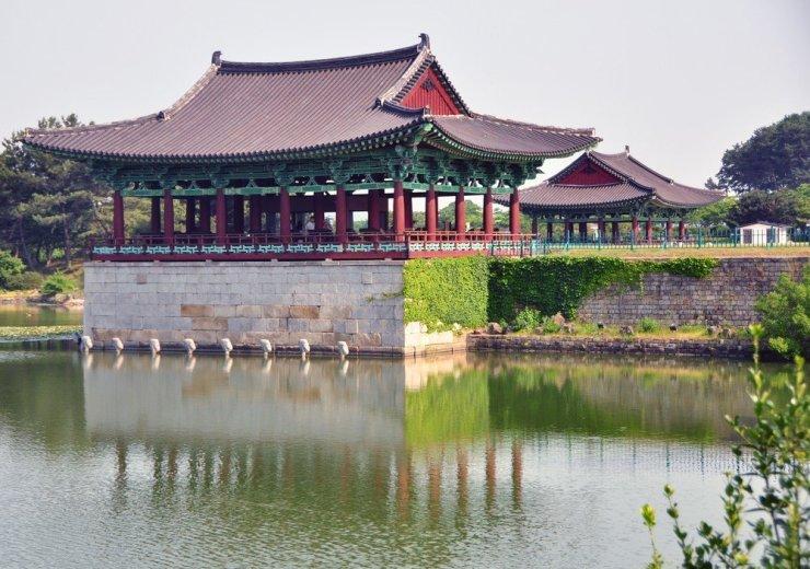 The Wolji Pond And Pagoda In Gyeongju South Korea