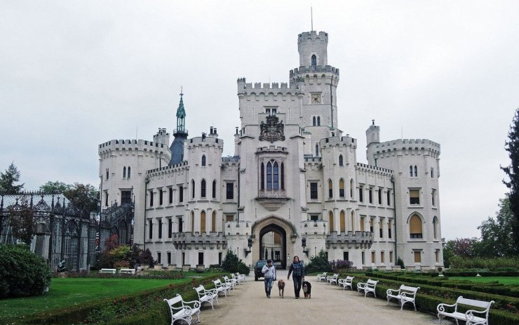 Hluboka castle in South Bohemia is Czech Republic's most beautiful castle. Made in the style of England's Windsor castle, this 19th century castle will surely evoke romantic memories.