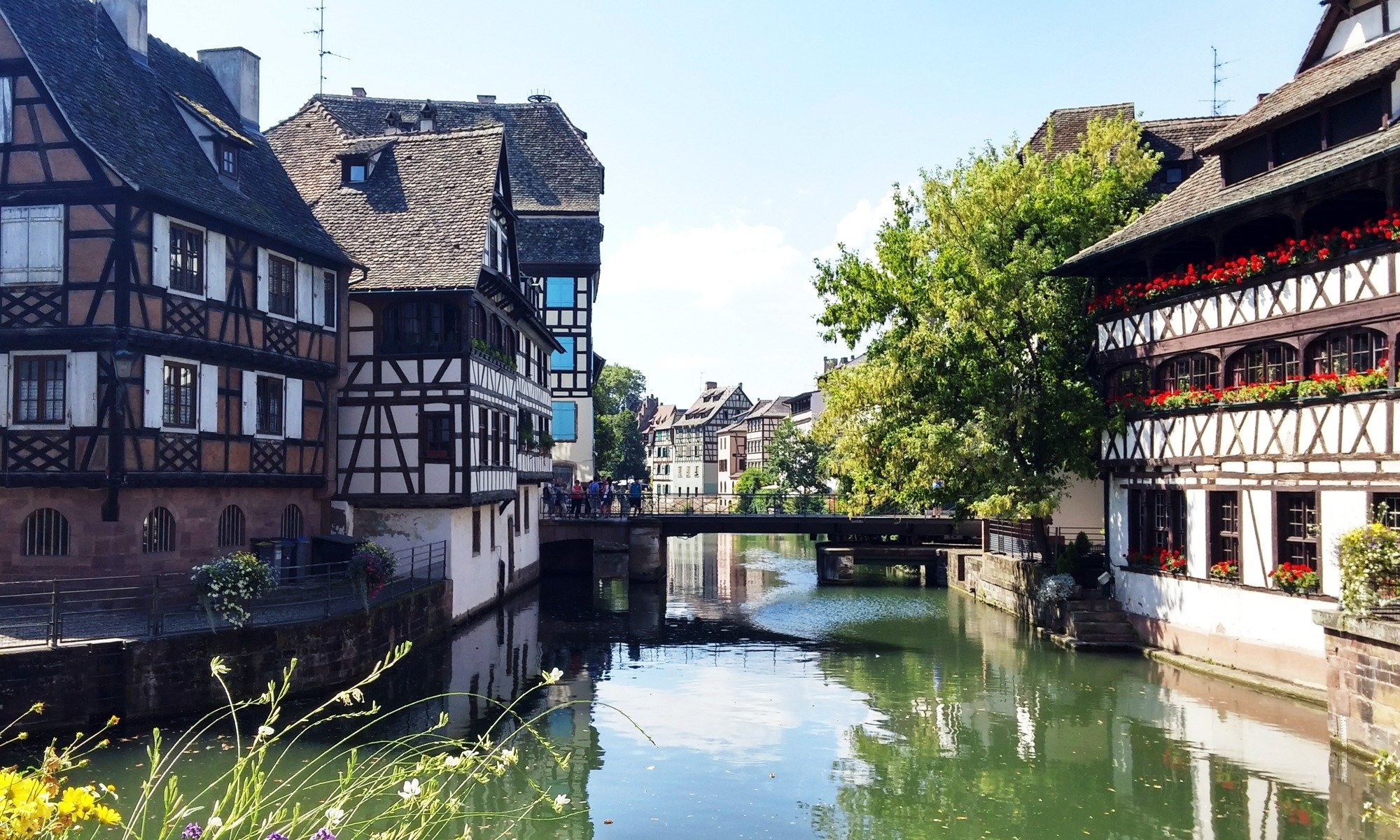 Begin your fairytale holiday in Petite France – the most enchanting place in Strasbourg. Stroll along the quiet River Ill past pastel houses and flower-decked bridges and take a thousand photos, relish the scene, and enjoy good food and wine.