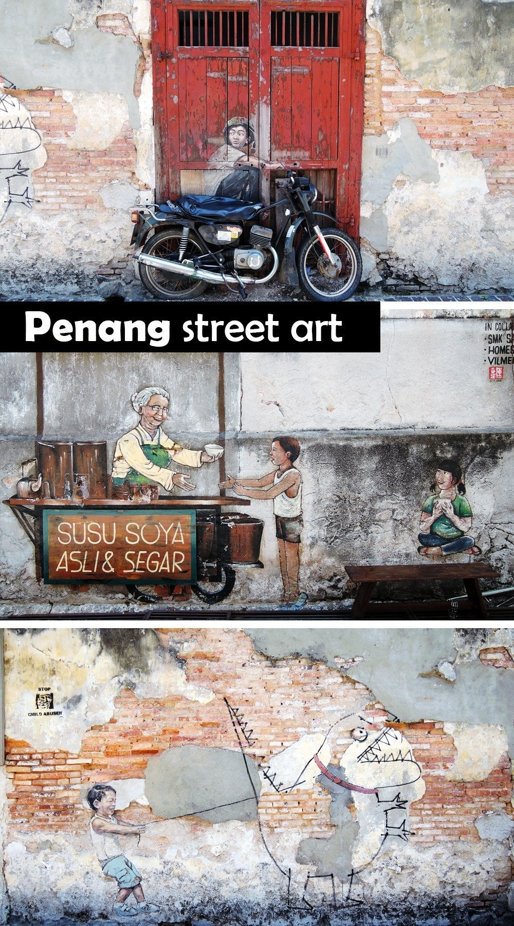 Street art brings life to George Town's old historical buildings, giving the UNESCO heritage site a fresh face. When in Penang, keep your eyes peeled for the caricatures and murals, and make sure to go into side streets and to look up. Here are more things to do on when you visit Penang, Malaysia!