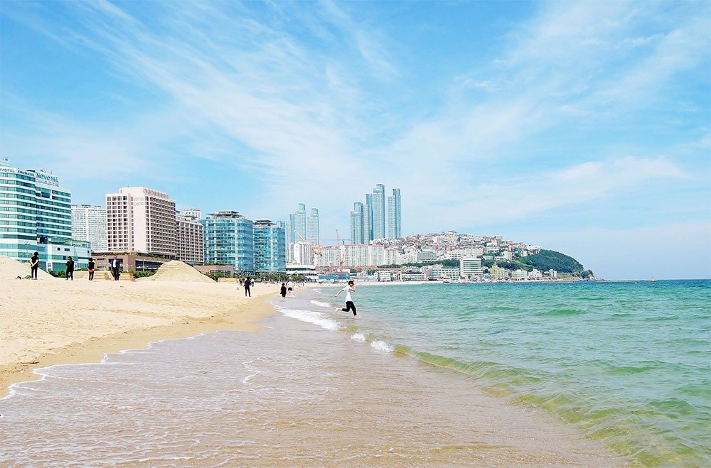 Enjoy the warm summer months with a holiday in Haeundae, Busan's most famous beach! Go for a swim, soak up the sun, and have lots of seafood.