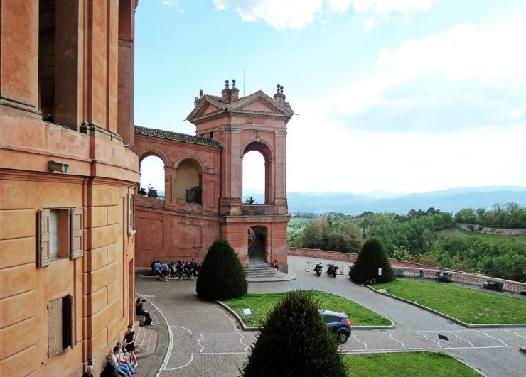 The Sanctuary of the Madonna di San Luca lies just a short trek from the Bologna city center and offers amazing views of the city.