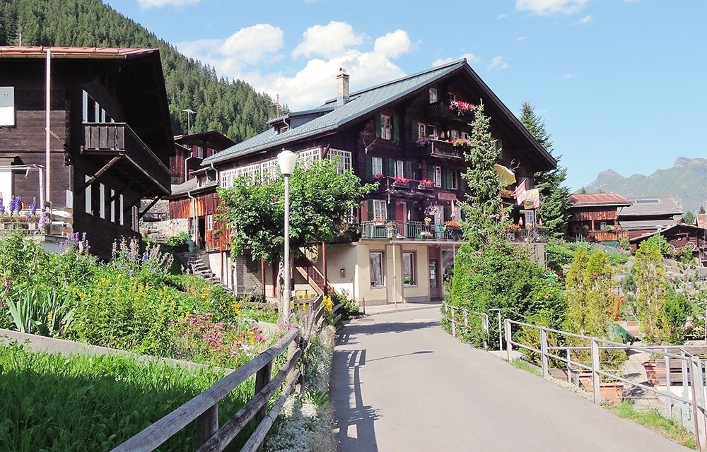 Explore the beautiful mountaintop village of Mürren. You can go for hikes or take the funicular to Allmendhubel.