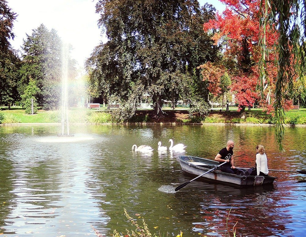 Escape the tourist crowd and relax at the Parc de l'Orangerie in the quiet European quarter of Strasbourg. Click through for more amazing things to do in Strasbourg!