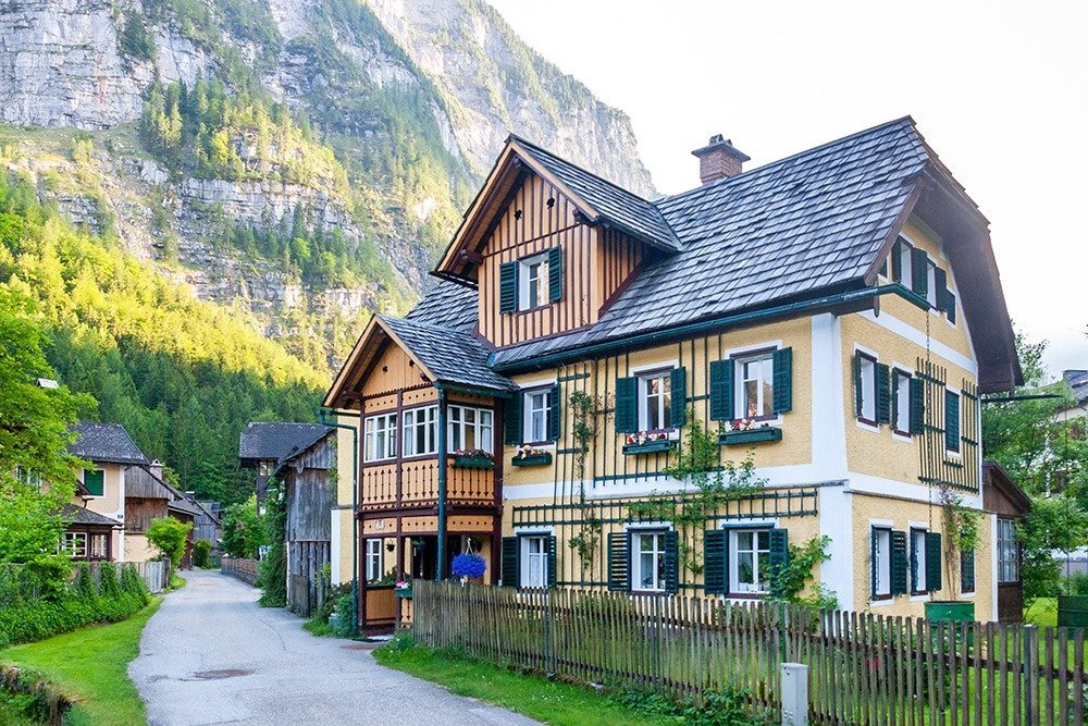 Hallstatt has a car-free historical center, so if you plan to road trip around Salzkammergut, your best option is to stay in one of the lovely pensions and apartments just outside the center.