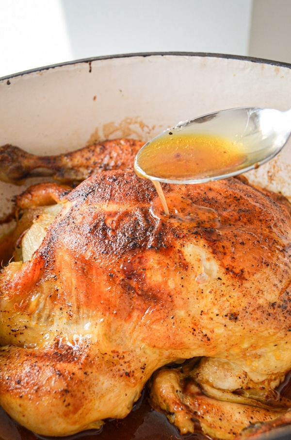 Try this healthy, homemade recipe for Rosemary Dutch Oven Chicken. You can make bone broth right in the pot after you're done!