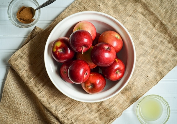 Make a Healthy Homemade Applesauce in the Instant Pot! No added sugar, completely from scratch, and flavored with just a hint of cinnamon! A healthy version of a kid favorite!