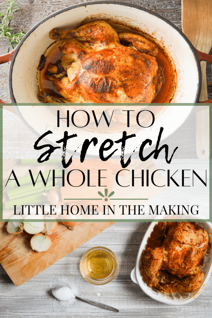 Eating a whole foods diet is possible on a budget! Learn how to stretch a whole chicken into 3 delicious meals PLUS ideas for healthy sides.