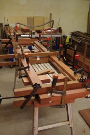 One of the doors glued and clamped together