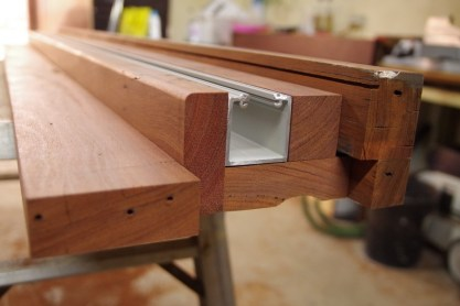 Creating the frame to fit the brio track
