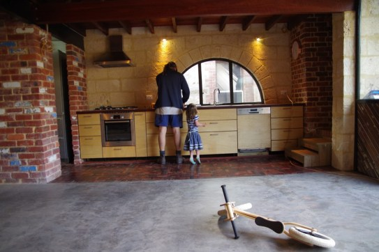 Kitchen floor (and kitchen) complete