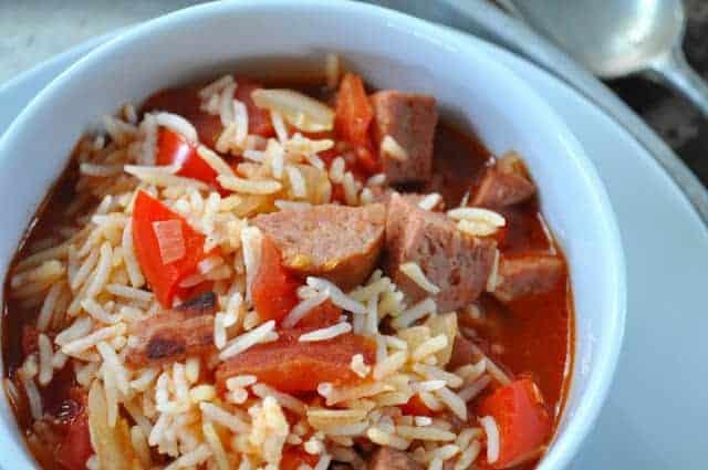 25 Minute Dinner Smoked Sausage Jambalaya