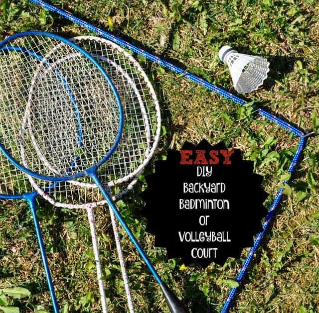 Easy DIY Backyard Badminton or Volleyball Court