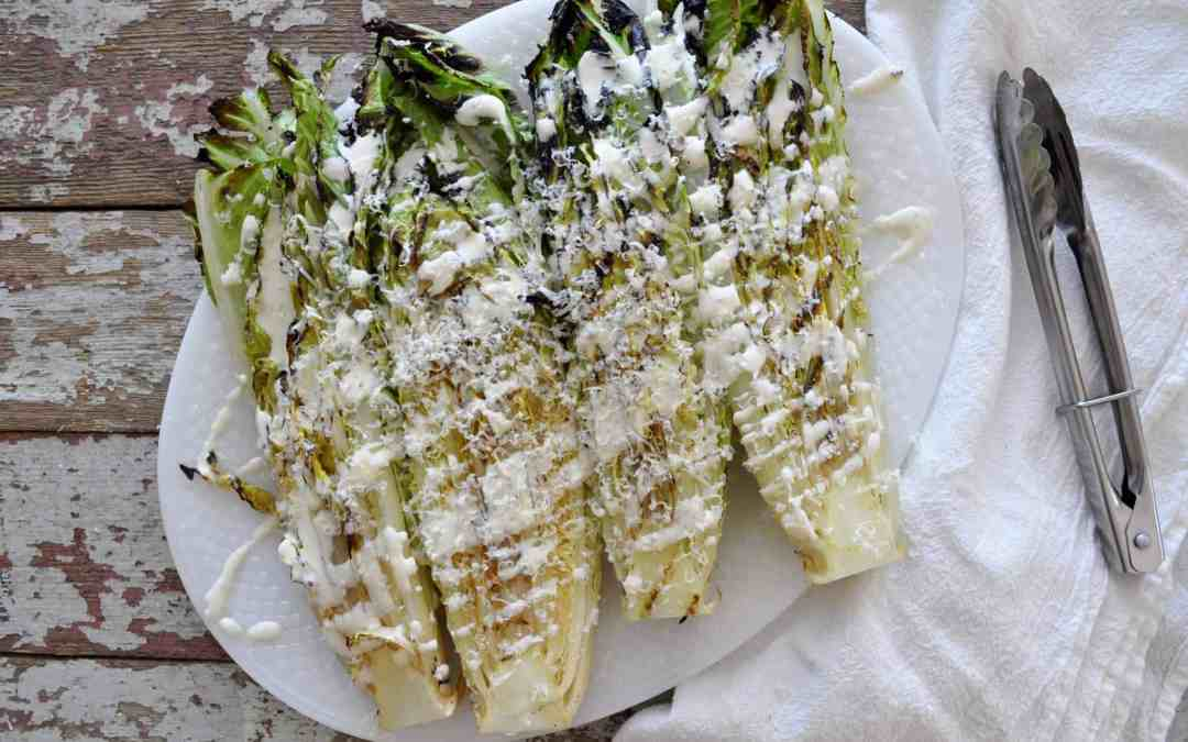 Grilled Romaine with Truffle Dressing #CookoutWeek16