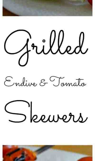 Grilled Endive and Tomato Skewers