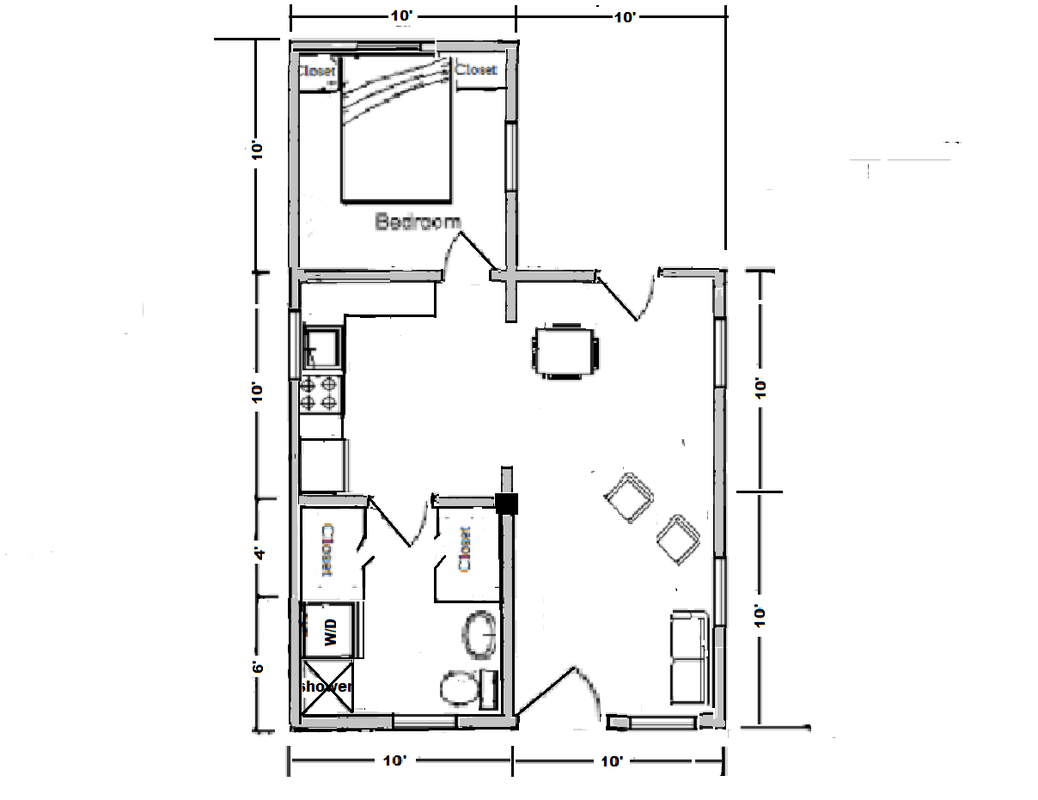 Square House Floor Plans With Lean To Kitchen