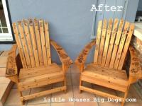 staining adirondack chairs | littlehousesbigdogs