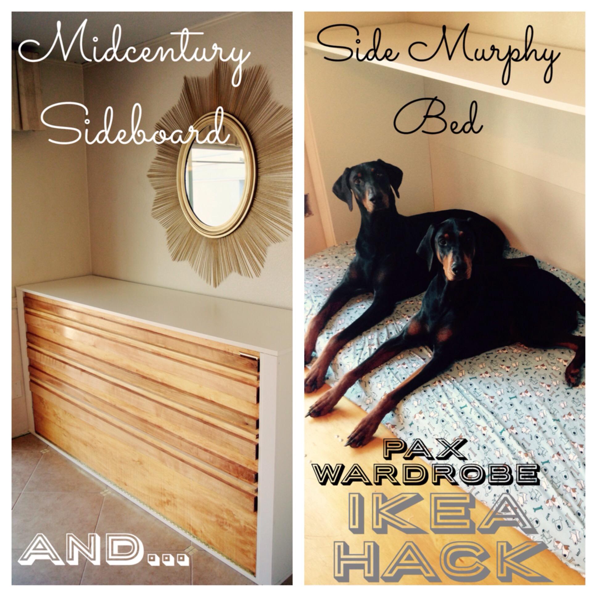 Ikea Hack! SIDE MURPHY BED /dog bedAgain