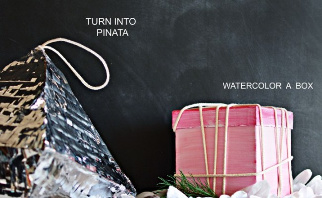 3 Ways To Wrap Difficult Presents Little Inspiration
