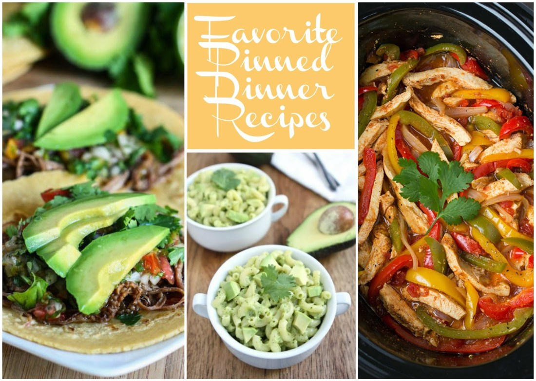 Pin-spiration Thursdays: <br> 7 Delicious Dinner Recipes