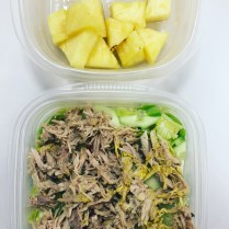Salad with shredded pork + pineapple