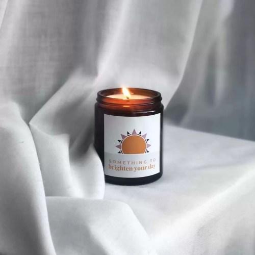 sun design personalised midi candle