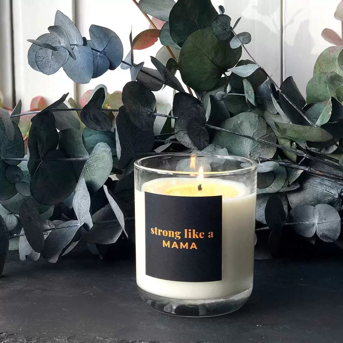 STRONG LIKE A MAMA | personalised vegan candle