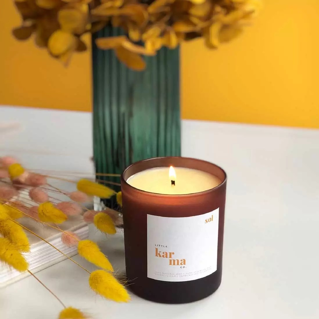 sol | energising eucalyptus + lime refillable large candle [220g]