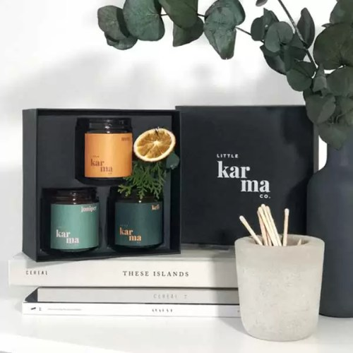 MIGHTY SET luxury scented candle gift set
